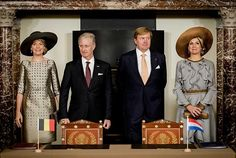 King Philippe and Queen Mathilde Visit The Netherlands – Day 1