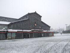 Tettoia dell'Orologgio sotto la neve