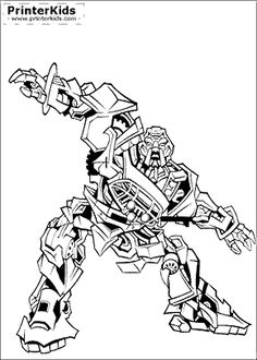 1000 images about transformers coloring pages on for Transformers coloring pages megatron
