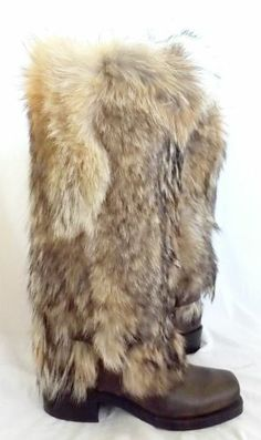 Men S Full Length Natural Coyote Fur Pelt Coat Stroller 56