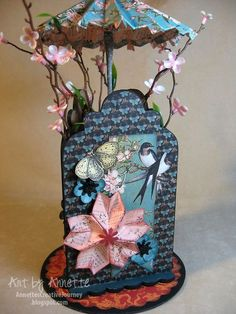 This is an amazing Origami piece of home decor by Annette Green using Bird Song! #graphic45