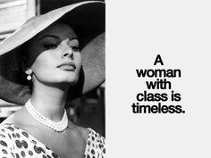 Sophia Loren, 1950s. La #classe è lo spirito dell'eleganza. ~ Roberto Gervaso, La volpe e l'uva