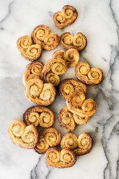 Spiced Orange Palmiers  Heart shaped and glorious! These Spiced Orange Palmiers are really, really delightful. They have a brilliantly caramelised and crisp puff pastry exterior, and a sweet but tangy sticky filling that is fragranced by the citric zest and juice of orange and rich flavour of mixed spice.