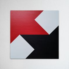 Hard-edged painting / geometric abstraction by British artist Gary Andrew Clarke Room Paint Designs, Canvas Painting Designs, Wall Art Designs, Geometric Quilt, Geometric Painting, Geometric Art, Dazzle Camouflage, Hard Edge Painting, Painted Barn Quilts