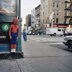 a little spiderman out of the metro!