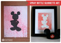 Kids Craft: Spray Bottle Silhouette Art  www.sisterssuitcaseblog.com #kids #craft