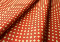 Fabric Finders #1010 Green White Dots on Paprika