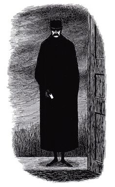 From Mysterious Messages, Cryptic Cards, Coded Conundrums, Anonymous Notes: A Book of Postcards by Edward Gorey Edward Gorey, Creepy Art, The Draw, Gothic Art, Horror Art, Light Art, Book Illustration, American Artists, Dark Art