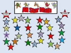All Star Math Game product from Grandma-Bugs on TeachersNotebook.com