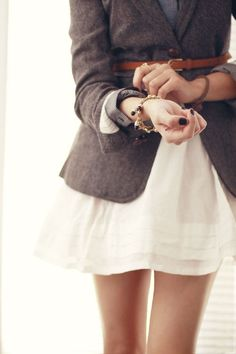 Belted Jacket + Dress