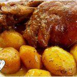 ΚΟΤΣΙ ΜΕΛΩΜΕΝΟ ΜΕ ΜΥΡΩΔΙΚΑ ΣΤΗ ΓΑΣΤΡΑ!!! Greek Recipes, Meat Recipes, Food Processor Recipes, Cooking Recipes, Healthy Recipes, Pork Dishes, Tasty Dishes, Cyprus Food, No Cook Appetizers