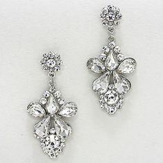 Aria Earrings in Crystal