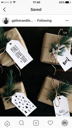 brown paper packages tied up with string👌🏻🎅🏼 …christmas confession, I'll have solely simply began reward … Merry Little Christmas, Noel Christmas, Winter Christmas, Christmas Crafts, Christmas Decorations, Diy Christmas Tags, Christmas Sketch, Christmas Ideas, Christmas Gift Wrapping
