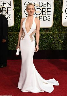Kate Hubson in Versace for The Golden Globes 2015  awesome!!
