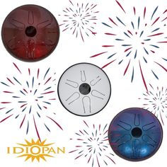 Idiopan steel tongue drums (Idiopan.com). #fourthofjuly #independenceday #percussion  #drums #drumming
