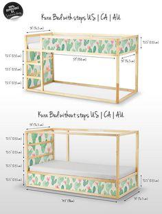 Kura Bett Ikea Kaktus Aquarell Aufkleberset PACK 5 Möbel