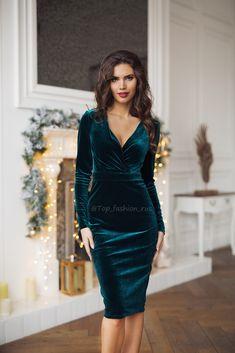 I remember that you like this style ♥♥ ♥♥ good night ♥♥♥♥ ♥♥  Dress Skirt, Dress Up, Bodycon Dress, Hijab Fashion, Fashion Dresses, Green Velvet Dress, Dress Pesta, Cocktail Dresses With Sleeves, Velvet Fashion