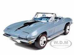 1967 Chevrolet Corvette L88 Blue 1/18 Diecast Model Car by Autoworld
