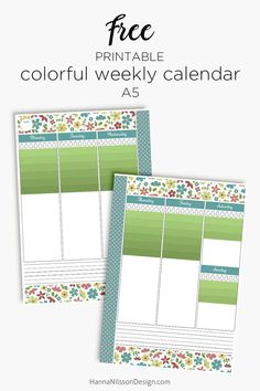 Hanna Nilsson Design – Prints and crafts Free Planner, Printable Planner, Happy Planner, Free Printables, Weekly Calendar, Weekly Planner, Organizing Paperwork, Stationery Store, Planner Decorating