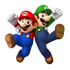 Mario and Luigi, the Super Mario Brothers. Super Mario Bros, Super Mario Brothers, Mario Bros Png, Mundo Super Mario, Super Mario Birthday, Mario Birthday Party, Super Mario Party, Happy Birthday, Birthday Parties