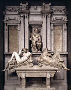 Tomb Giuliano de' Medici 1524/1531 by Michelangelo - Firenze Basilica di San Lorenzo Cappelle Medicee   #TuscanyAgriturismoGiratola