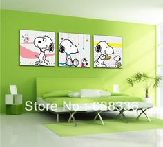 Framed 3 Piece Wall Painting Cartoon painting Snoopy Home Decorative Oil Painting Picture Printed On Canvas Ge 498-in Painting & Calligraphy from Home & Garden on Aliexpress.com   Alibaba Group