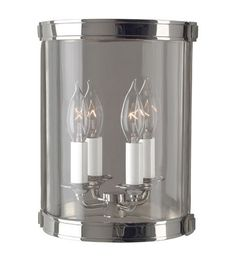 Width: 8.50 in. Height: 11.00 in. Extension/Depth: 4.00 in. Bulbs Included: No Primary Bulb(s): 2 x 60 watts