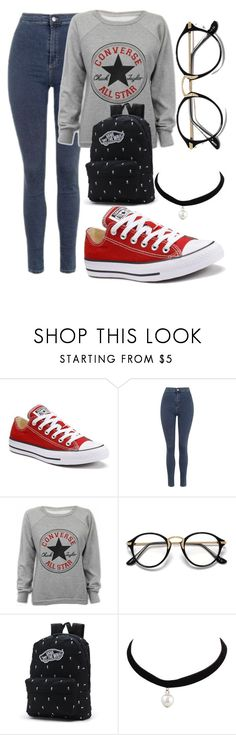 """Untitled #52"" by misszoe101 on Polyvore featuring Converse, Topshop and Vans"