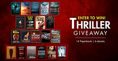 Thriller Giveaway Competition 14 paperbacks to win and every entrant gets 6 free e-books!   #WIN 14 paperbacks EVERY entrant to our #Thriller #giveaway recieves 6 free ebooks.  #book #books #ebooks