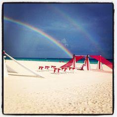 Today is #FindARainbowDay at Sandos Playacar   Hoy es el Día de Encontrar un Arco Irís en Sandos Playacar