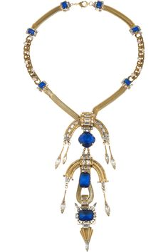 ERICKSON BEAMON  Safari 22-karat gold-plated Swarovski crystal necklace