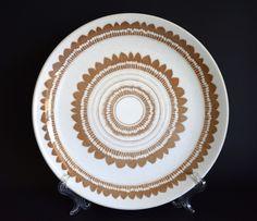 Genuine Ironstone Newport Dinner Plates & Bowl - Vintage Retro Crown Lynn Stamen Design - Made in New Zealand