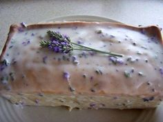 Lavender Tea Bread Ingredients: 3/4 cup milk 2 Tbsp. dried lavender flowers, finely chopped, or 3 Tbsp. fresh chopped flowers 2 cups all-purpose flour 1 1/2 tsp. baking powder 1/4 tsp. salt 6 Tbsp. butter, softened 1 cup sugar 2 large eggs  Grease a 9x5x3 inch loaf pan Preheat oven to 325 degrees Heat milk with lavender almost to a boil then steep until cool Mix flour, baking powder and salt together then eggs one at time add flour mixture with lavender milk pour prepared pan bake 50 min