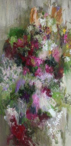 Nikolai Blokhin Flowers 79x39 in, oil on canvas, 2011