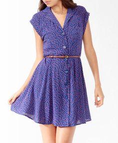 Ditsy Floral Shirtdress w/ Belt | FOREVER 21 - 2000047721