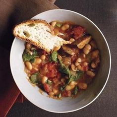 White Bean and Kielbasa Stew Recipe Soups, Main Dishes with white ...