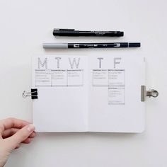 Timetable A6 Bullet Journal