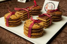 cookies wrapped for guests