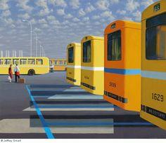 The City Bus Station - Jeffrey Smart