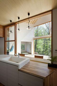House for Viewing the Mountain by Kawashima Mayumi Architects Design / Hokuto, Yamanashi Prefecture, Japan
