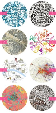 Beautiful Maps of Paris