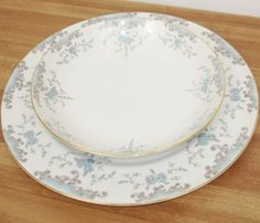 Mikasa-Seville-Blue-Roses-Fine-China-Plate-and-Bowl-Japan-5303-Discontinued