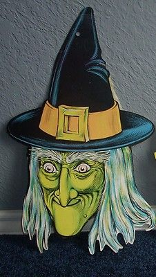 vintage beistle halloween die cut wicked witch i remember these i may still have - Beistle Halloween Decorations