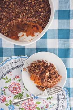Make-Ahead Sweet Potato Casserole with Cinnamon Pecan Oat Crumble