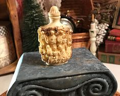 Vintage Chinese Snuff Bottle with Sages & Immortals Composite 1950s Mid Century Asian Art China Mongolia Japan Tobacco