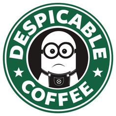 Minion Despicable Me Coffee Starbucks Logo Cutting File / Printable Clipart in Svg, Eps, Dxf, Png, and Jpeg for Cricut & Silhouette Cute Minions, Minions Despicable Me, My Minion, Mug Starbucks, Disney Starbucks, Starbucks Memes, Citation Minion, Minion Party, Minions Quotes