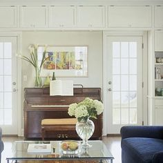 Piano in living room (music)