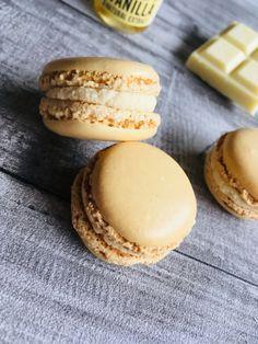 Macarons à la vanille Ganache Macaron, Buffet Dessert, Macarons, Meringue, Biscuits, Cheesecake, Bread, Cookies, Food