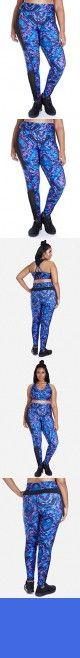 Women's Plus Size Elevate Floral Maze Active Sport Leggings (1X, Royal Blue)
