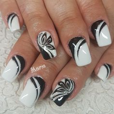 Started With Innovative Nail Art Designs Great black and white nail art designGreat black and white nail art design Black Nail Designs, Colorful Nail Designs, Gel Nail Designs, Pretty Nail Art, Beautiful Nail Art, Stylish Nails, Trendy Nails, Gel Nails, Manicure